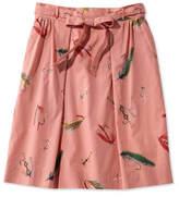 L.L. Bean Signature Poplin Skirt, Print