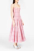 Natasha Zinko Plaid Brocade-Detailed Corset Dress