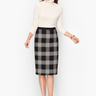 Talbots Plaid Sparkling Pencil Skirt