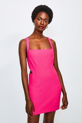 Karen Millen Cross Back Bodycon Mini Dress