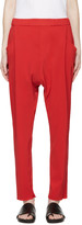 Baja East Red Crepe Lounge Pants