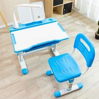 "Isabelle & MaxTM Megan Study 25.6"" W Art Desk and Chair Set Isabelle & Max Color: Blue"