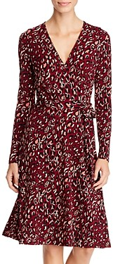 Leota Leopard Print Faux-Wrap Dress