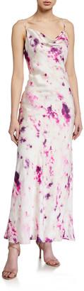 Bardot Tie-Dye Slip Dress w/ Open Back