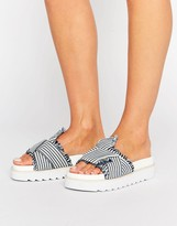 Asos FIRST CLASS Bow Chunky Sandals