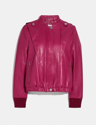 Coach Satin Leather Blouson