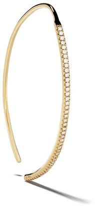 Ileana Makri 18kt Yellow Gold Diamond Eye Hoop Earring