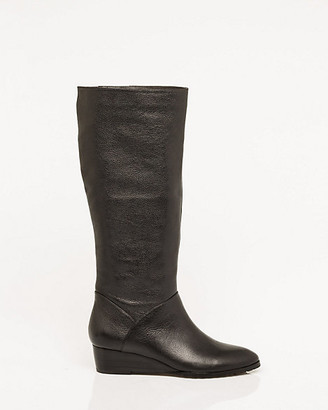 Le Château Pebble Leather Wedge Boot