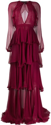 DSQUARED2 tiered ruffle dress