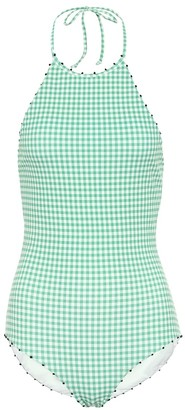 Marysia Swim Exclusive to Mytheresa French Mott gingham swimsuit