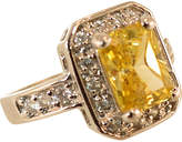 One Kings Lane Vintage 1970s Sterling & Canary CZ Artisan Ring