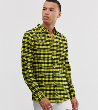 Another Influence Tall regular fit flannel check shirt