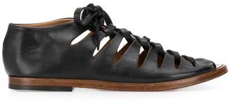 Alberto Fasciani Lace-Up Leather Gladiator Sandals