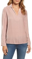 Velvet by Graham & Spencer Women's Collared Velvet Top