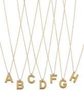 Roberto Coin Princess 18K Yellow Gold Diamond Initial Necklace