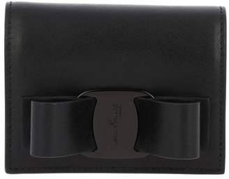 Salvatore Ferragamo Wallet Vara Rainbow Small Wallet In Smooth Leather With Vara Big Bow