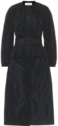 Jil Sander Belted taffeta midi dress
