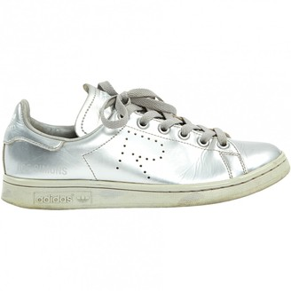 Raf Simons \N Silver Leather Trainers
