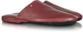 Moreschi Amerigo - Burgundy Nappa Leather Travel Slippers w/Case