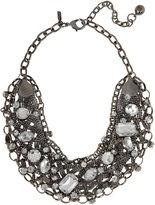 Crystal Studded Bib Necklace