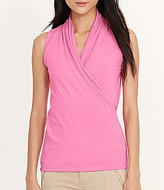 Lauren Ralph Lauren Stretch Jersey Surplice Top