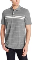 Arrow Men's Short Sleeve Engineered Chest Stripe Oxford Polo