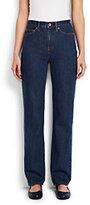 Classic Women's Petite High Rise Straight Leg Jeans-Medium Wash
