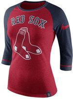 Nike Women's Boston Red Sox Tri Raglan T-Shirt
