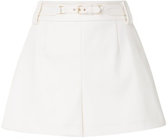 RED Valentino Belted Flared Shorts
