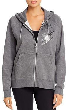 Nike Metallic-Logo Fleece Hoodie