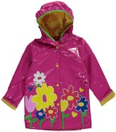 "Wippette Little Girls' ""Puffy Flowers"" Rain Jacket"