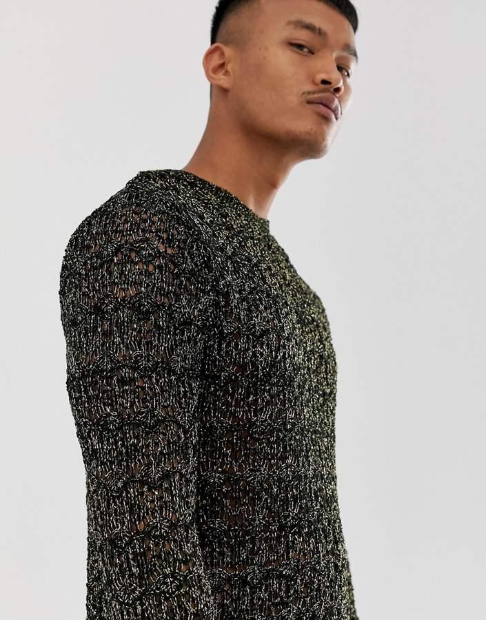 cc822dd9 Metallic Sweater Men - ShopStyle