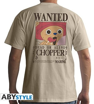 ABYstyle - ONE Piece - Tshirt - Wanted Chopper - Man - Sand (L) White