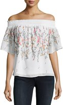 Matty M Embroidered Off-The-Shoulder Top