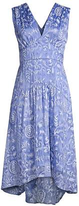 Elie Tahari Celeste Floral Empire Waist A-Line Dress