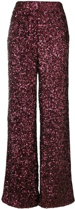 Victoria Victoria Beckham All Over Sequin Wide Leg Trousers