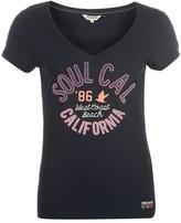 Soul Cal SoulCal Fashion Logo T Shirt Ladies