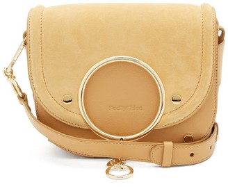 See by Chloe Mara Small Suede And Leather Cross-body Bag - Cream