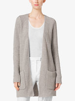 Michael Kors Shaker-Stitch Cashmere And Linen Cardigan