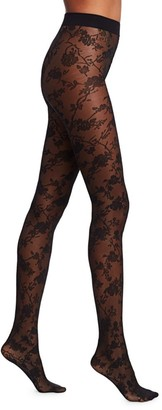Wolford Marie Floral Lace Tights