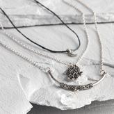 Silver Hamsa Necklaces Set of 3