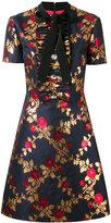Gucci metallic floral dress - women - Silk/Cotton/Acetate/Metallic Fibre - 44