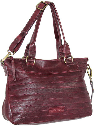 Nino Bossi Handbags Women's Handbags Burgundy - Burgundy Rebekah Convertible Leather Satchel