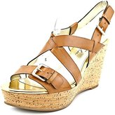 Marc Fisher Gilon 3 Women US 7 Tan Wedge Sandal