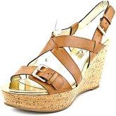 Marc Fisher Gilon 3 Women US 8.5 Tan Wedge Sandal