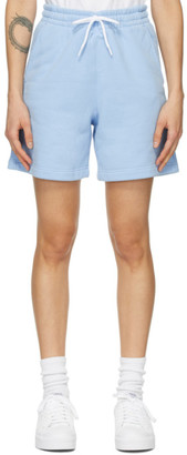 Alexander Wang Blue Terry Shorts