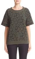 Tomas Maier Women's Floral Print Fleece Sweatshirt