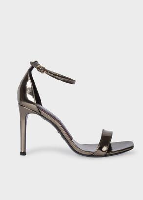 Paul Smith Women's Metallic Nickel 'Milla' Heeled Sandals