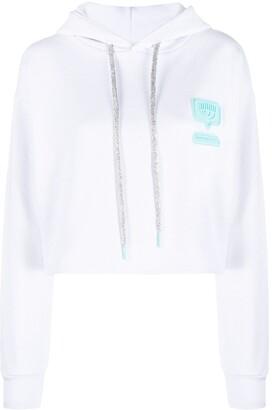 Chiara Ferragni Eyelike cropped hoodie
