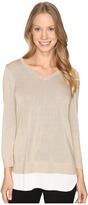 Calvin Klein V-Neck Lurex Sweater